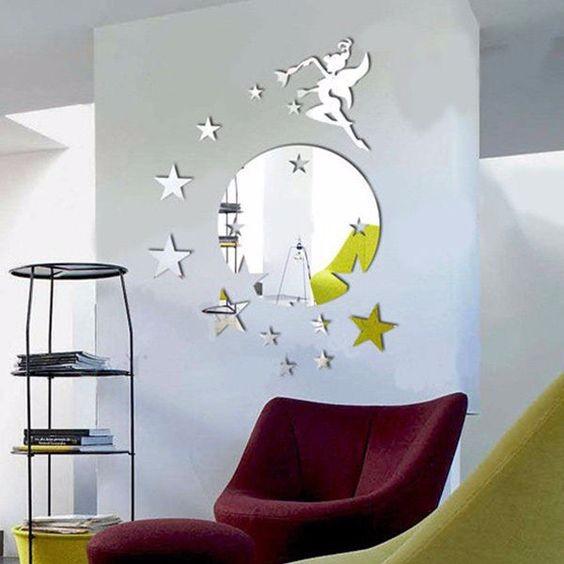 kuda ramah lingkungan kustom desain self adhesive cermin foil wall