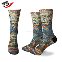 Cheap Custom Printing Dye Sublimation Sock,sublimated printting socks