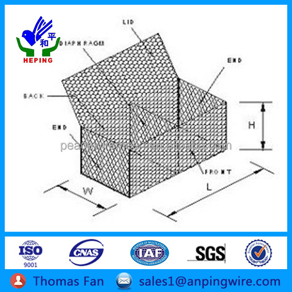 China Factory Wire Mesh Chain Link Fence Gabion Prices,Galvanized ...