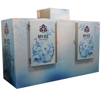 Ice storage freezer -12C for 10 pounds packaged ice