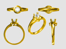 Ring Jewelry CAD 3D Designing---178