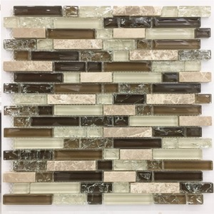 New design onyx mosaic mixed material glass mosaic for kitchen backsplash M855370