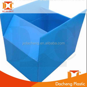 durable foldable anti-static pp storage boxes customized