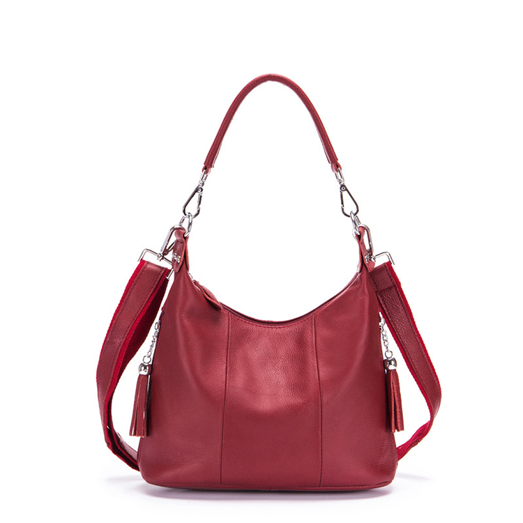 Fashion <strong>Genuine</strong> <strong>Leather</strong> Women <strong>Hobo</strong> <strong>Bag</strong> Handbag for Leisure Modern High Quality Ladies <strong>Leather</strong> <strong>Hobo</strong> Shoulder <strong>Bag</strong> with Tassel