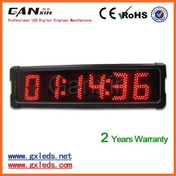 [Ganxin] outdoor waterproof digital low voltage led clock