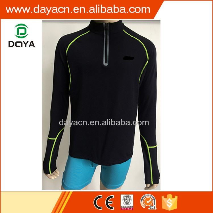 2017 Men's hot sale cycling jersey black top long sleeve