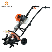 Hand push 52cc mini power tiller Unkraut entfernung maschine