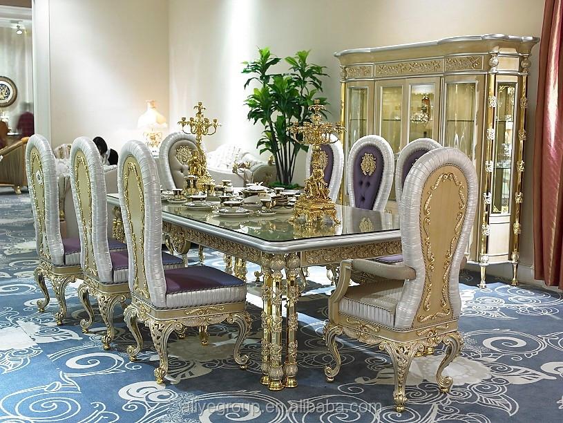 gdm014 luxury classique royal baroque bras chaisefranais style en bois manger chaise