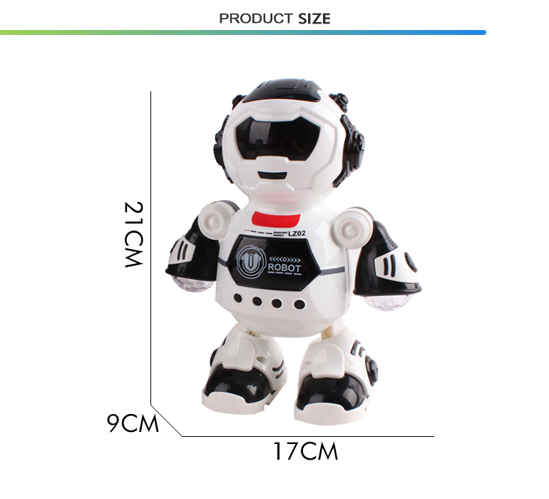 New style multifunctional electric light musical robots toy kids