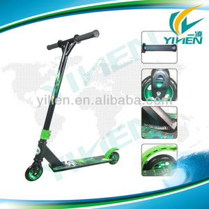 Black with Green Fox's Alu Stunt Pro Scooter For Team Games