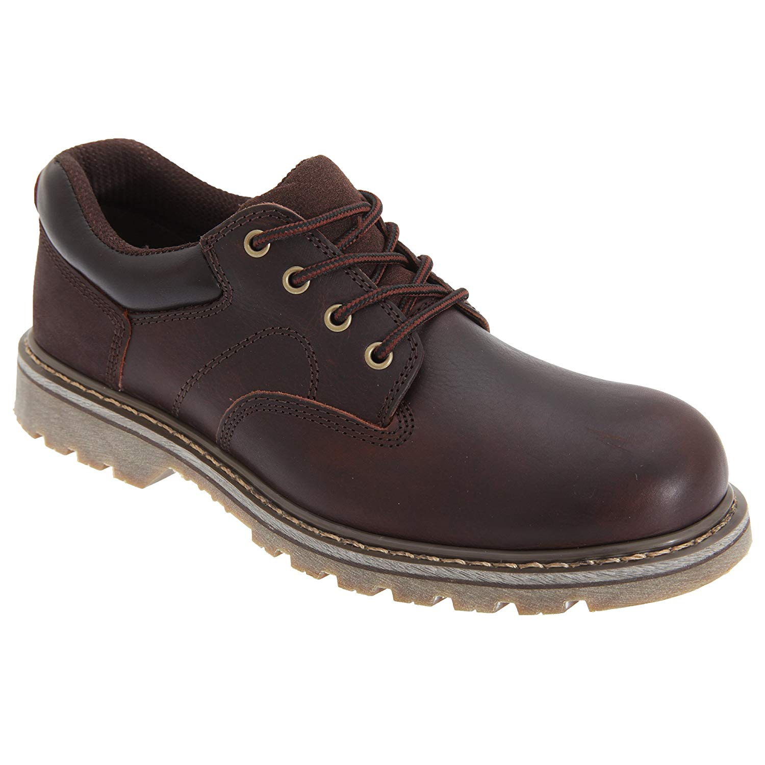 820a4cfd06b Get Quotations · Land of Wood Woodland Mens Tumbled Leather Padded Utility  Shoes