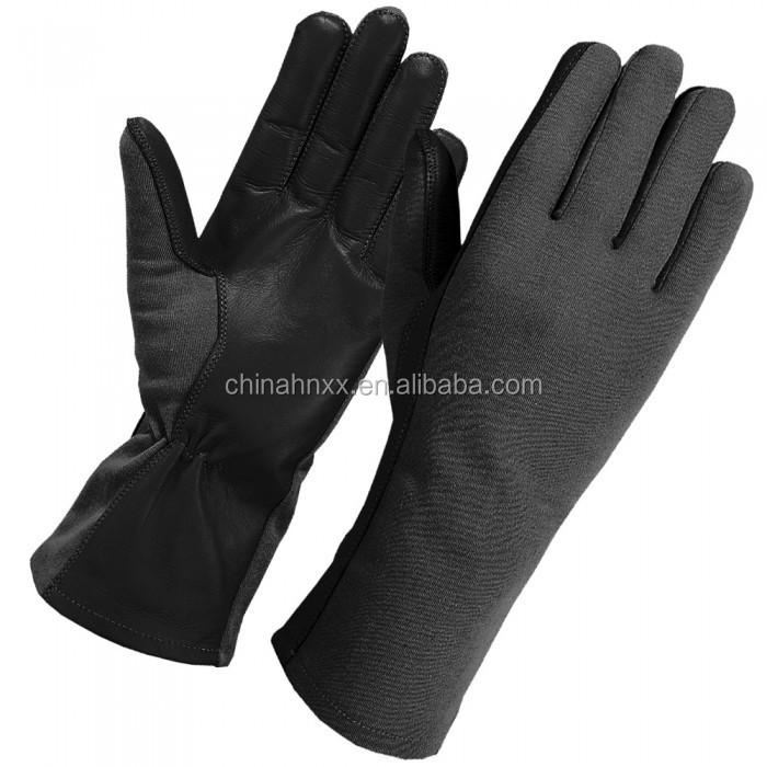 Black aviation flight NOMEX Military Pilot tactical gloves