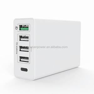 Shenzhen Portable PD Type C Qualcomm Quick Charge 3.0 Multi 5 Port USB Wall Charger