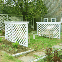 Free maintenance beautiful white pvc trellis
