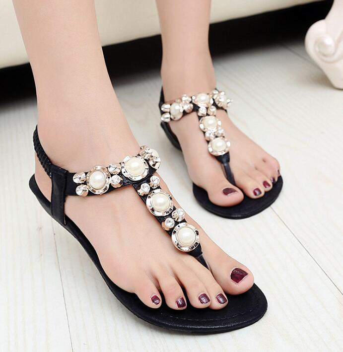 f9a7d6555 zm10303a 2016 summer flat sandals for ladies new women sandals shoes with  crystal