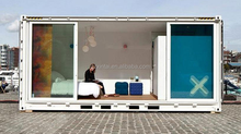 Outdoor temporary housing, mobile prefabricated container rooms, simple mobile portfolio warehouse