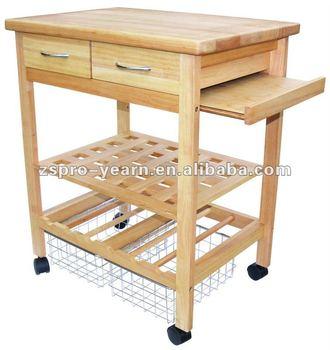 Tavoli Da Cucina Con Cassetti.Cucina In Legno Carrello Di Servizio Carrello Con 4 Livelli 2