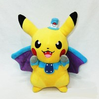 Zombie pikachu wearing cloak pokemon lovely toy stuffed animals for boys