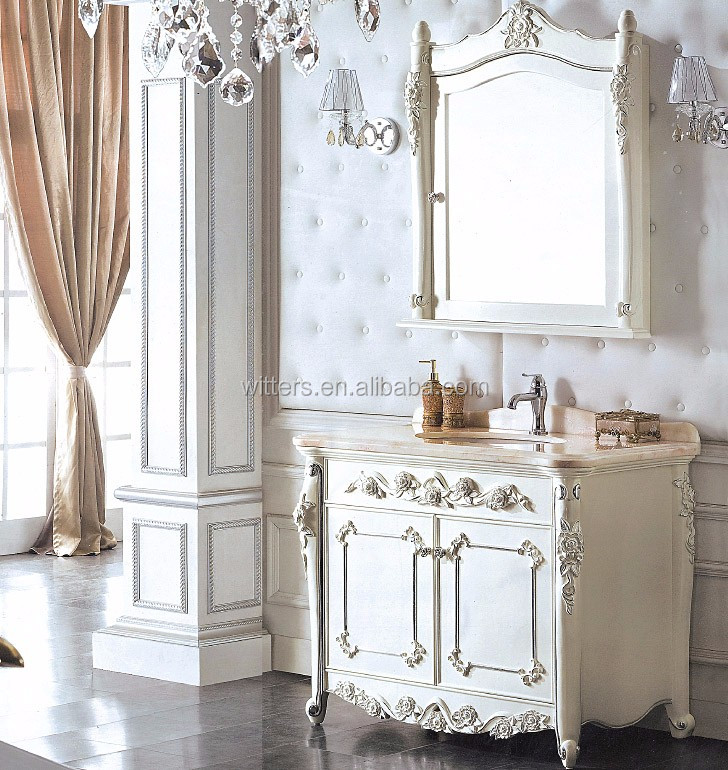 antique blanc victorienne handcarved vanit salle de bain vintage shabby chic bois vier salle. Black Bedroom Furniture Sets. Home Design Ideas