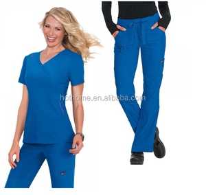 OEM hospital women's uniform unisex cheap colorful non woven medical clothing