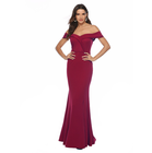 up-0112r European style V-neck off-shoulder lady long evening dresses