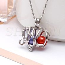 Customized Bulk Animal Jewelry locket Elephant Sterling Silver Pearl Cage Pendant