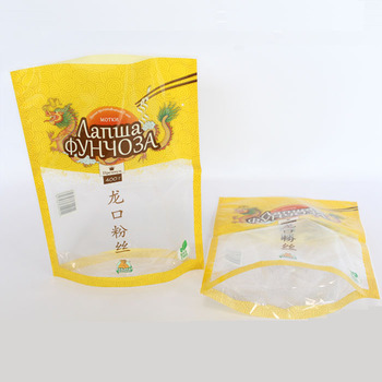Big Stand Up Food Safety Plastic Packaging With Round Bottom Gusset