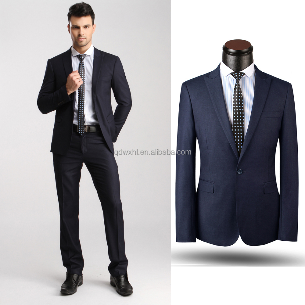 Mens Bespoke Suit 100% Wool Tailor Made Fashionable Style Slim Fit ...