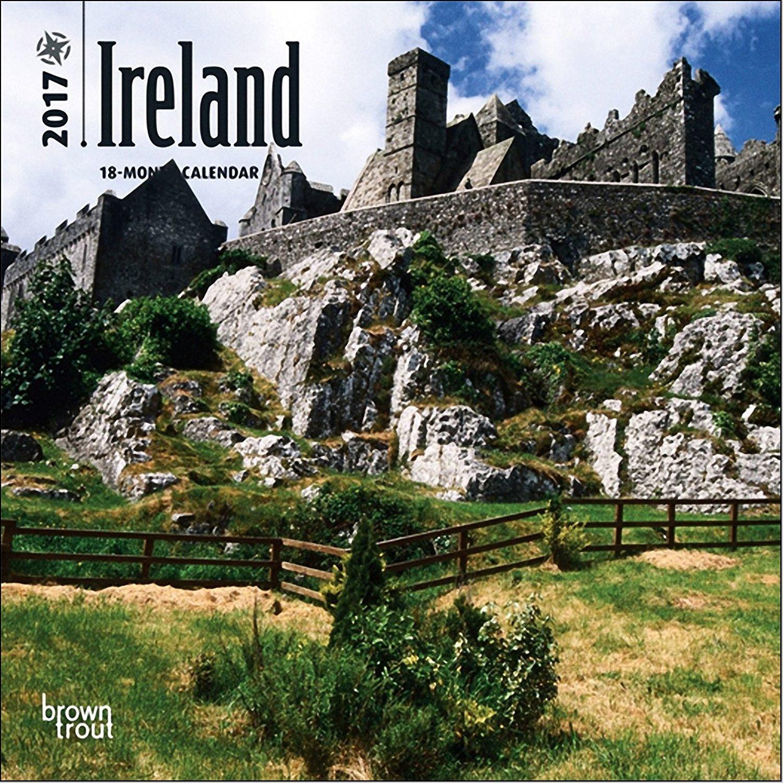 Ireland Mini Calendar 2017 - Deluxe Small Wall Calendar (7x7)