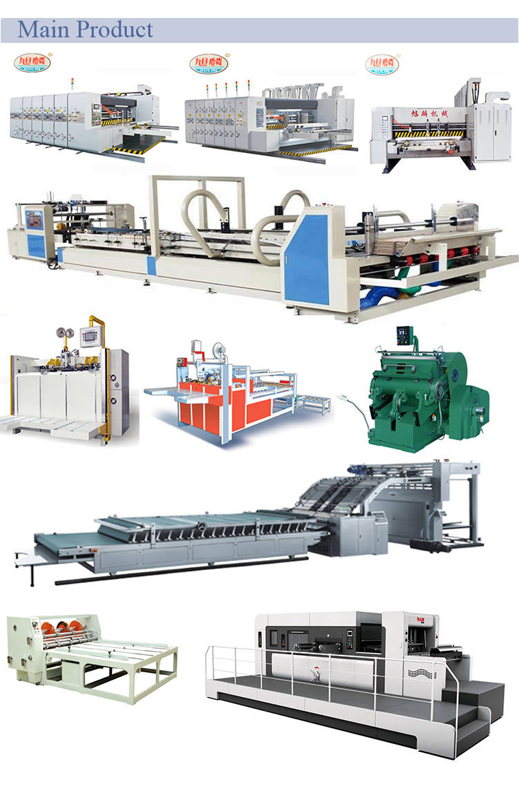 4 colors high speed Printing Slotting Die cutting Machine for cardboard