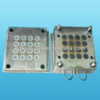 silicone injection mould for auto valve with cold runner, cold runner injection mould, silicone valve mould