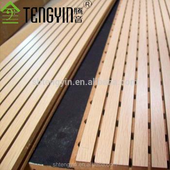 Chine bon prix bois rainur d 39 isolation phonique panneaux muraux pour la d coration int rieure - Prix isolation interieure maison ...
