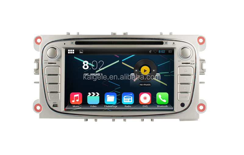 most popular car dvd player for Ford Focus car radio android support 3g wifi bt obd vcd mp3
