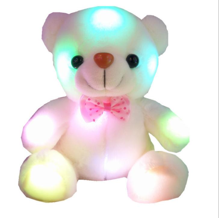 High Quality Stuffed Customized Soft Plush LED Toys Night Lighting Bear