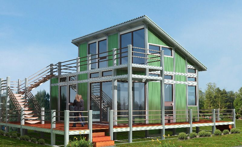 Cheap manufactured prefabricated modular green homes sip for Sip panel kit homes