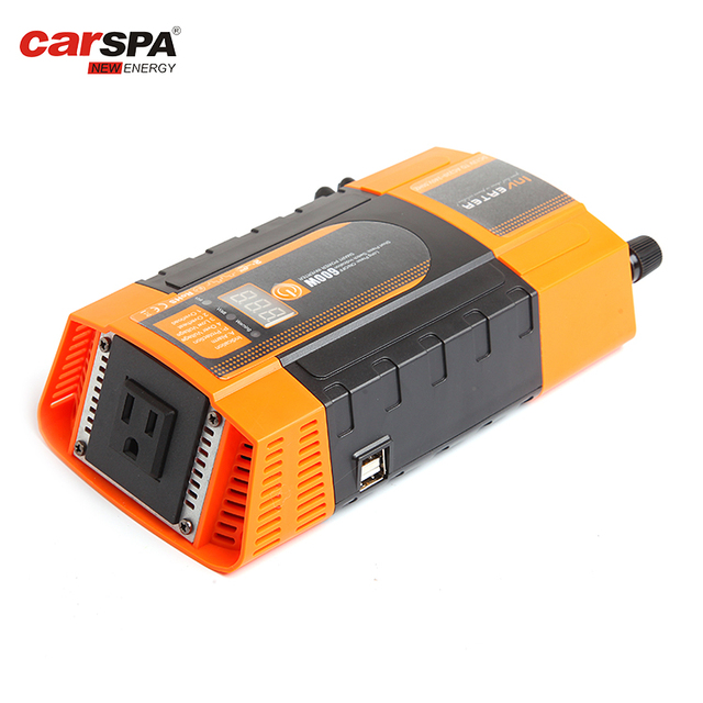 600W Intelligent Smart 12V DC To 220V AC Power Inverter