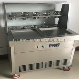 Hot sale ice cream roll freezer cold stone table fry ice cream machine cold plate for ice cream roll making