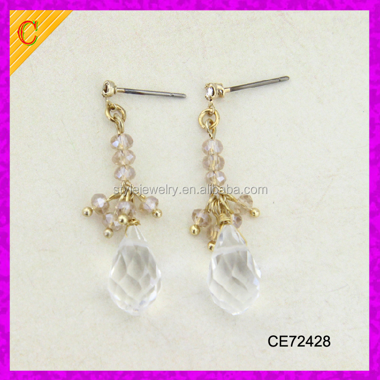 CE72428 wholesale newest style fashion hot sale high quality polki jhumka earrings