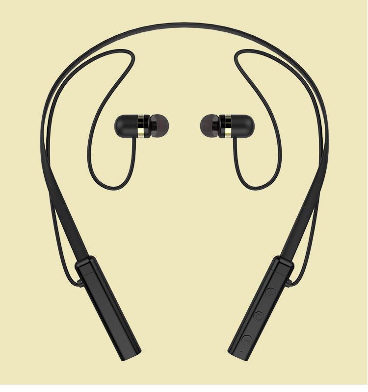 Amazing sound stereo neckband sport wireless headset with mic