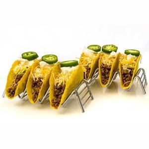 High Quality Taco Stand Stainless Steel Taco Holder With Hold 3 or 4 Tacos