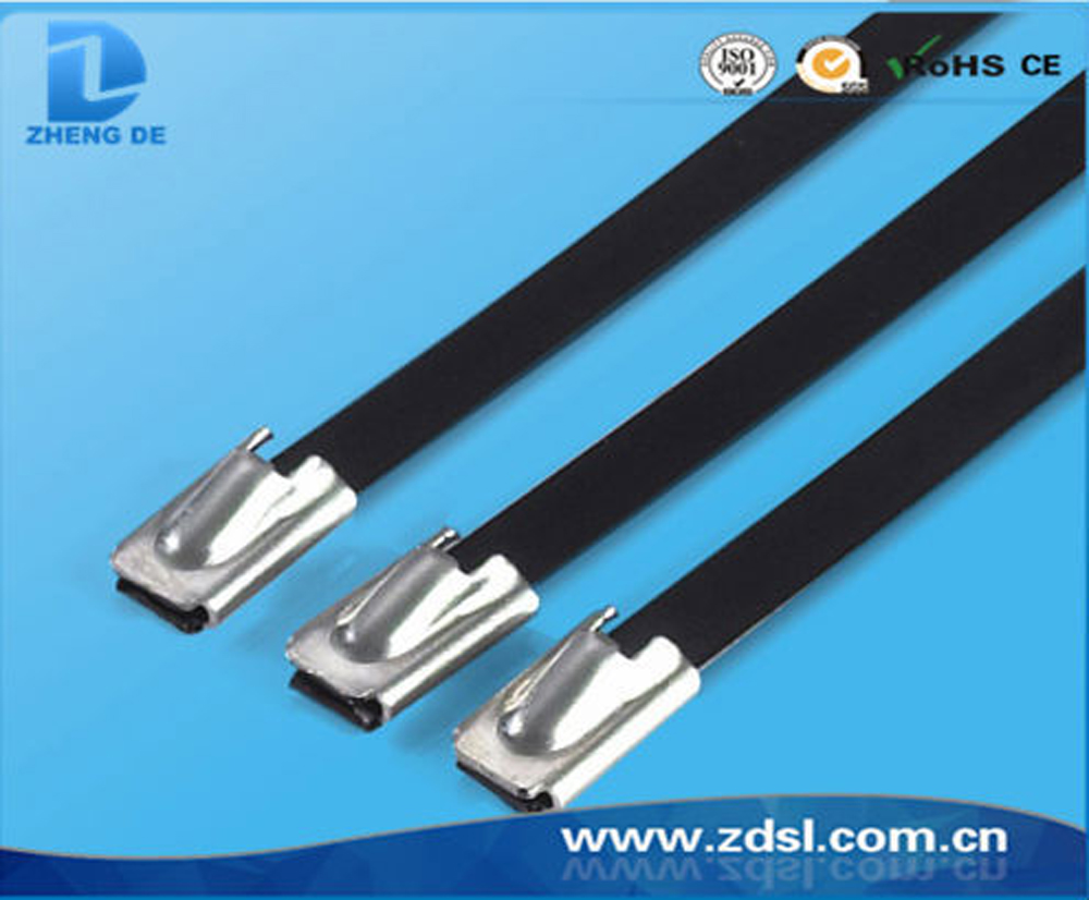 Factory wholesale durable stainless steel cable ties with full epoxy coated