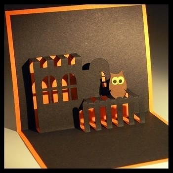 3d card halloween pop up card