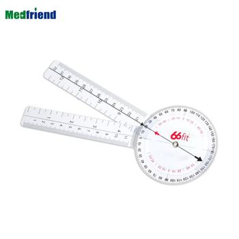 "8"" Medical Transparent Goniometer 360 Degree Protractor Style-Range of Motion Testing -Physical Occupational Therapy"