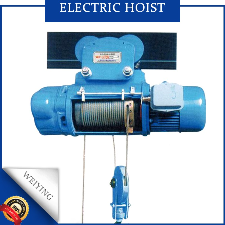 China manufacture 1t electric wire rope hoist for motor hoist