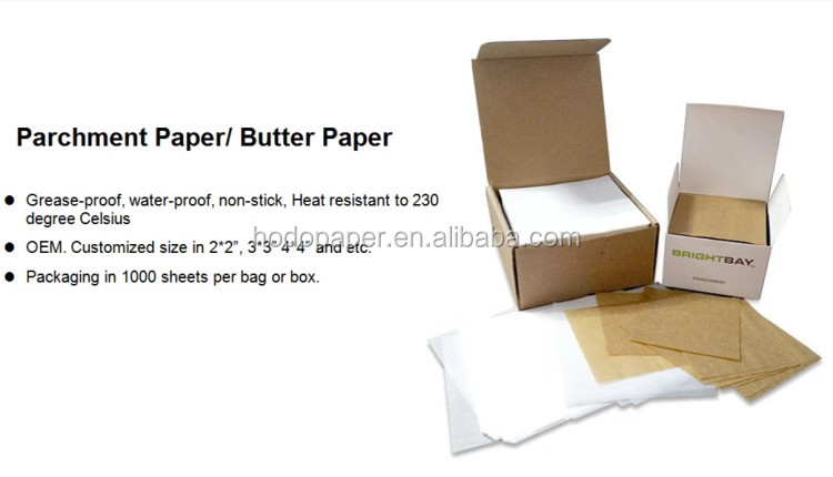 Big Promotion High Quality Special Price Liners Parchment Paper Baking Paper Squares 8cm *8cm inch 1000 Pieces