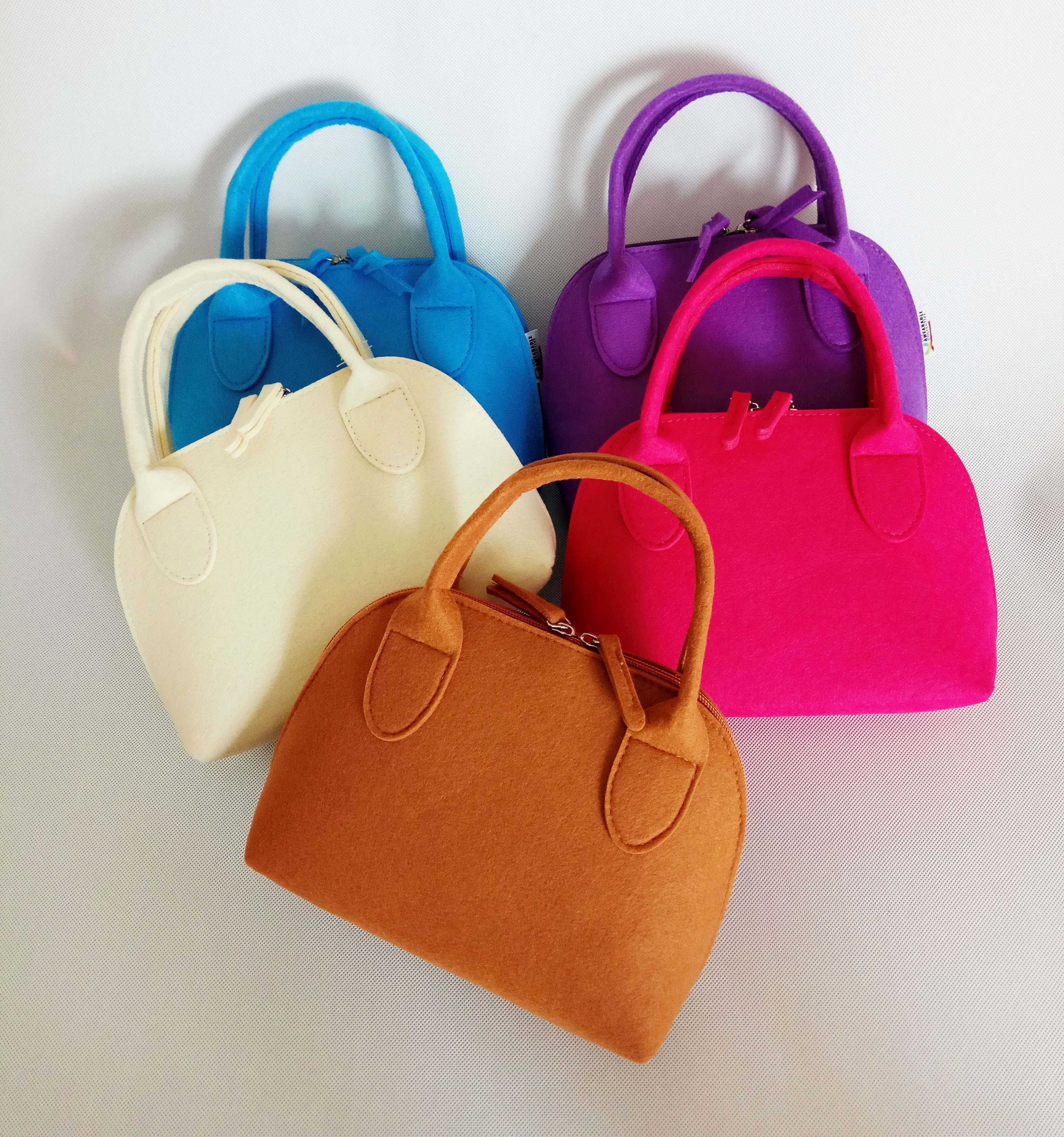 high quality new fashion 2020 custom non-woven felt hand bags women handbag manufacturer in China color size logo OEM