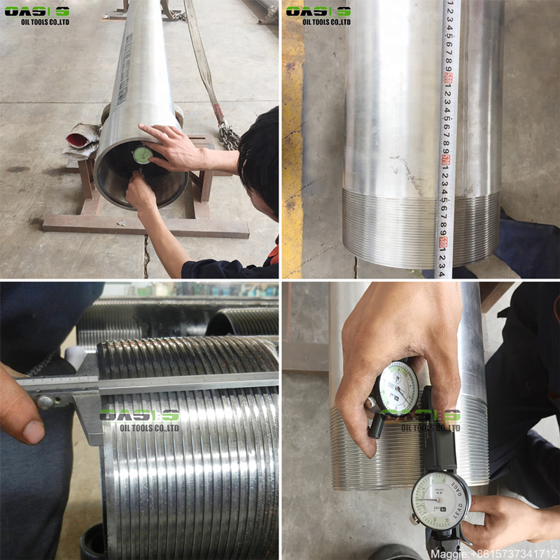 Seamless steel TP304L 316L grade casing pipe with coupling STC BTC thread oil well tubing