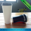 16oz double wall 24oz single wall paper cups customized printing with lid