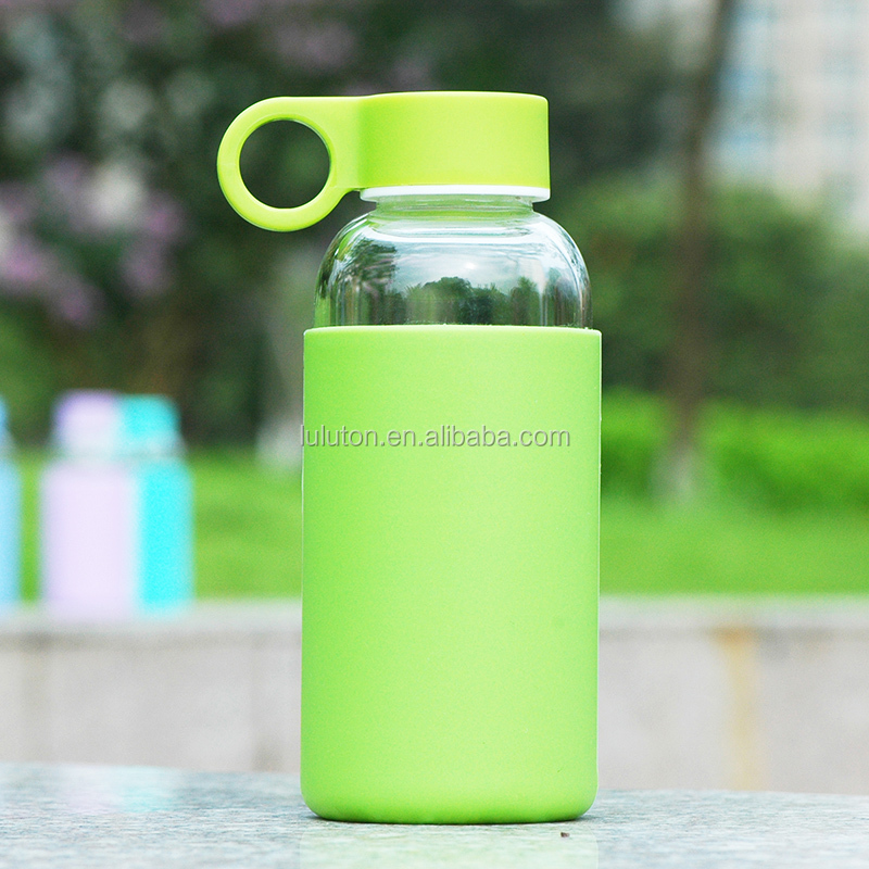 2015 new arrival custom glass water bottles wholesale canada
