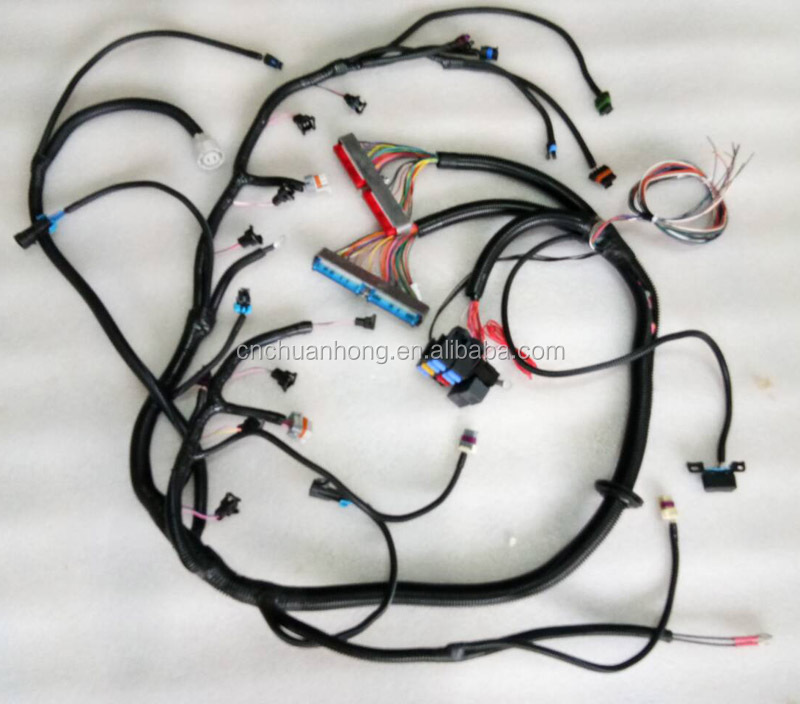 99 -03 Vortec Drive By Cable Standalone Wiring Harness W/ 4l60e Wire  L E Wiring Harness on